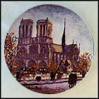 La Cathedrale Notre Dame Collector Plate by Louis Dali