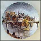 La Pointe Du Vert Galant Et Le Pont Neuf Collector Plate by Louis Dali MAIN