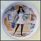 Brigitte In Mini-Skirt, The Emancipated Woman, 1965 Collector Plate by Francois Ganeau