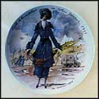 Edith, The Practical Woman In Tailored Costume, 1915 Collector Plate by Francois Ganeau