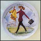 Francoise In Trousers, The Independent Woman, 1960 Collector Plate by Francois Ganeau
