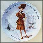 Helene The Intrepid, Fashion At All Costs, 1943 Collector Plate by Francois Ganeau