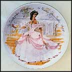 Scarlet In Crinoline, The Inaccessible Woman, 1865 Collector Plate by Francois Ganeau