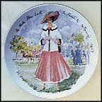 Sophie Of The New Look, Femininity Recovered, 1947 Collector Plate by Francois Ganeau