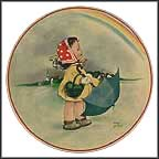 Rainbows Collector Plate by Mabel Lucie Attwell