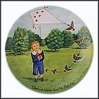 The Kite Collector Plate by Linda Worrall MAIN