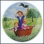 Pirate Story Collector Plate by Linda Worrall