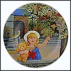 At The Zoo Collector Plate by Linda Worrall