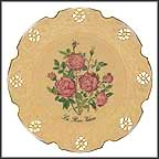 The Queen Victoria Rose Collector Plate by Kristin Jeffrey