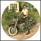 Elvis On His Harley Collector Plate by Bruce Emmett