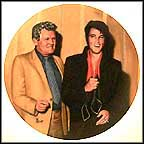 Elvis Returns To The Stage Collector Plate by Bruce Emmett