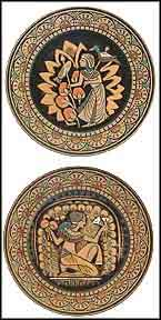 King's Fisherman / Queen's Handmaiden set of 2 Collector Plate