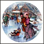 Skating On The Pond Collector Plate by Stewart Sherwood
