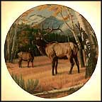 The Elk Collector Plate by Paul Krapf MAIN