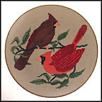 Cardinals Collector Plate by Jeanne M. Warth