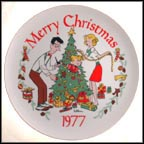Christmas Collector Plate by Hank Ketchum