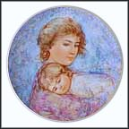 Abby And Lisa Collector Plate by Edna Hibel