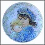 Catherine And Heather Collector Plate by Edna Hibel