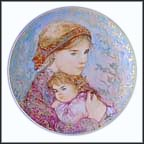 Emily And Jennifer Collector Plate by Edna Hibel
