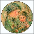 Colette And Child Collector Plate by Edna Hibel