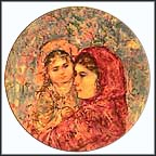 Lucia And Child Collector Plate by Edna Hibel