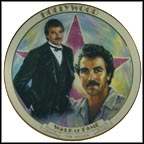 Tom Selleck Collector Plate by Susie Morton