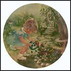 Stop And Smell The Roses - artist signed Collector Plate by Rusty Money