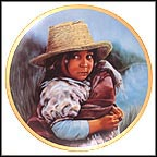 Girl With Straw Hat Collector Plate by Susie Morton