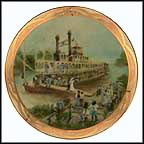 Riverboat Honeymoon - artist signed Collector Plate by Rusty Money