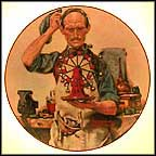 The Inventor Collector Plate by Norman Rockwell