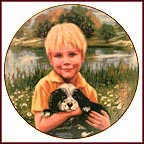 Michael's New Puppy Collector Plate by Charlene Mitchell