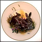 Cottontails Collector Plate by Don Balke