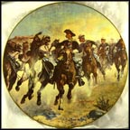 Dismounted: The 4th Troopers Moving - 1890 Collector Plate by Frederic Remington