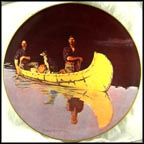 Evening On A Canadian Lake Collector Plate by Frederic Remington