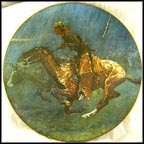 Stampeded By Lightning Collector Plate by Frederic Remington