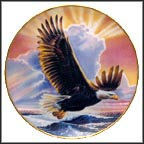 Wings Of Majesty Collector Plate by Ronald Van Ruyckevelt