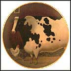 Bessie's Barn Collector Plate by Lowell Herrero MAIN