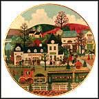 Sweet Apple Junction Collector Plate by Jane Wooster Scott MAIN