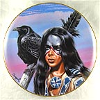 Spirit of the Black Crow Collector Plate by Gary Ampel