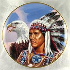 Spirit of the Great Eagle Collector Plate by Gary Ampel