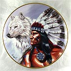 Spirit of the White Wolf Collector Plate by Gary Ampel MAIN