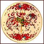 Christmas Steed Collector Plate by Maureen Drolak-Jensen