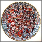 Santa Claws Collector Plate by Bill Bell