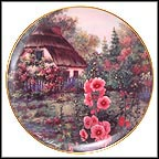 Hollyhock Cottage Collector Plate by Violet L. Schwenig