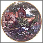 Olde Mill Cottage Collector Plate by Violet L. Schwenig