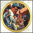 The Legendary Babe Ruth Collector Plate by James Auckland