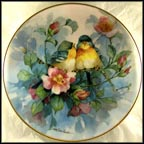 Dogwood Duet Collector Plate by Carolyn Shores Wright