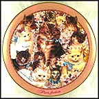 Purr-Fection Collector Plate by David Willardson