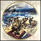 Storming The Beaches At Normandy Collector Plate by William Teodecki MAIN