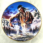 Maiden of the First Snowfall Collector Plate by David Penfound MAIN